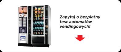 Automaty vendingowe do testu, test automatów samosprzedających Wrocław