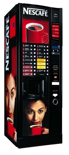 Automat do gorących napojów z kawą Nescafe