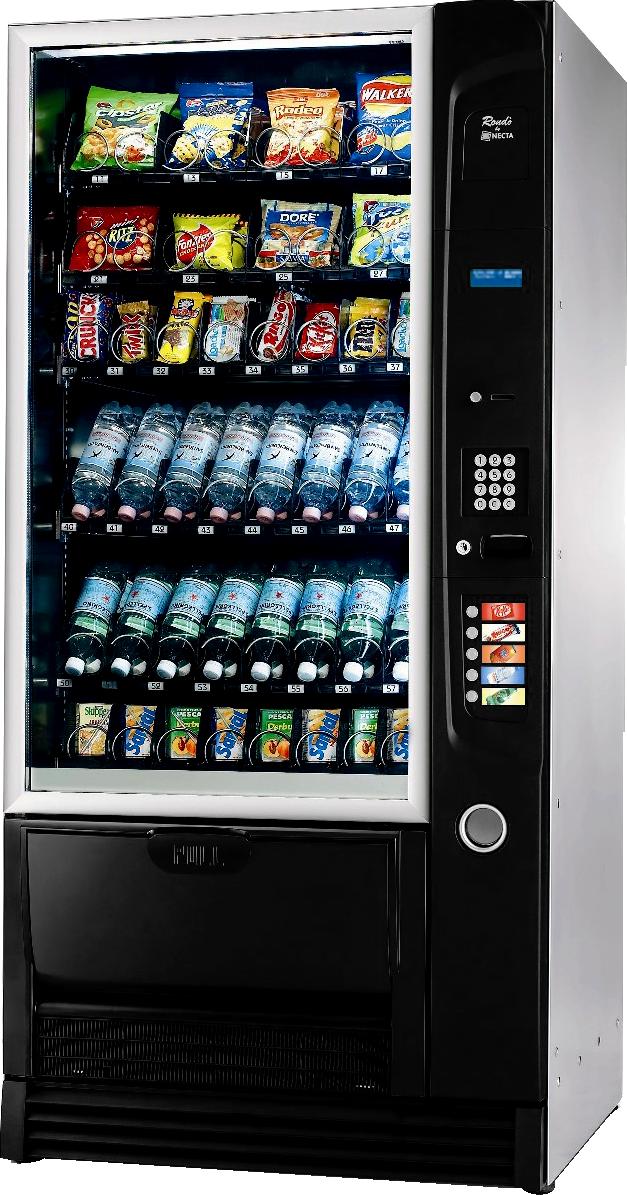 Automat samo sprzedający do produktów spożywczych, automat vendingowy do przekąsek
