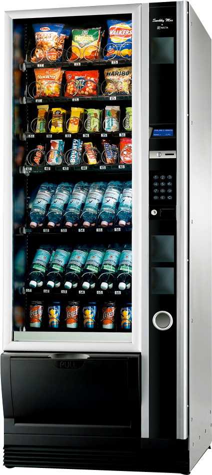 Automaty vendingowy do sprzedaży przekąsek i napojów