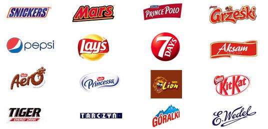 Baton Snickers z automatu, baton Mars, soki Tarczyn, napoje energetyczne z automatów